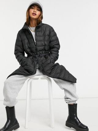 WOMEN Rains trekker coat in black