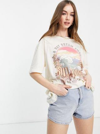 WOMEN Billabong Dreamy Day t shirt in white