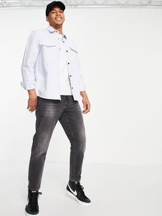 River Island overshirt in blue
