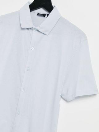 organic jersey shirt in light blue