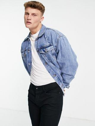 New Look oversized denim jacket in light blue