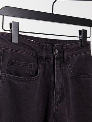 WOMEN COLLUSION x000 Unisex straight leg jeans in berry black