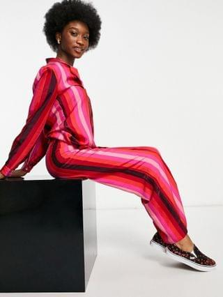 WOMEN Never Fully Dressed striped pants in pink and red - part of a set