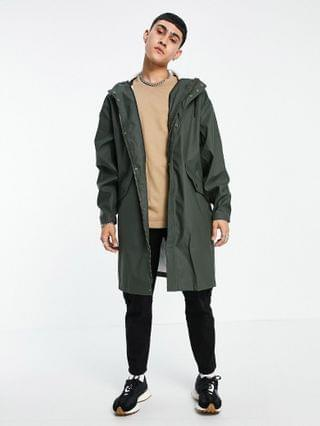 waterproof parka jacket in khaki