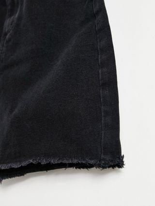 WOMEN Missguided Tall denim mini skirt in black
