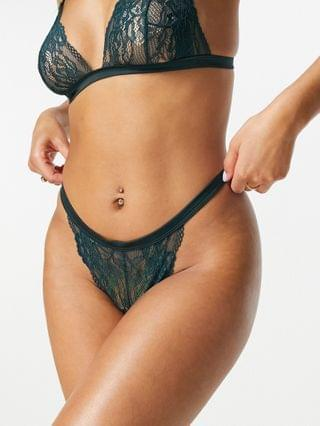 WOMEN Elsie satin barely there set in petrol
