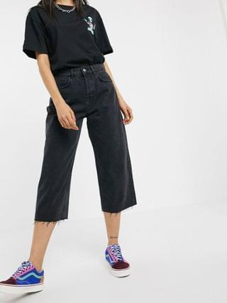 WOMEN Crooked Tongues crop skate jean in washed black