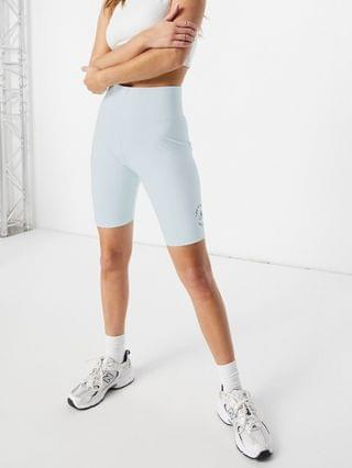 WOMEN New Balance 'Life in Balance' legging shorts in pale blue - Exclusive to