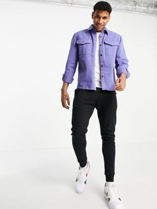 River Island overshirt in lilac