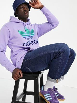 MEN adidas Originals trefoil ombre hoodie in lilac