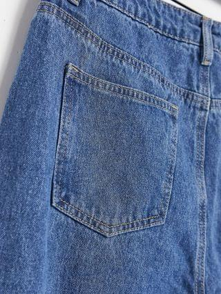 WOMEN Missguided Tall riot high waisted plain rigid mom jean in blue