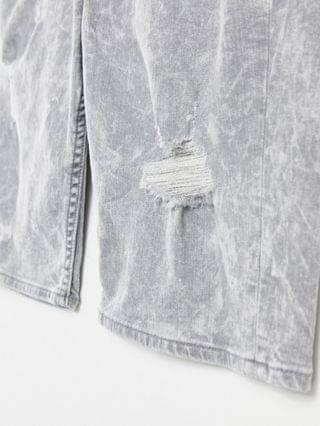 Guess slim denim short in gray