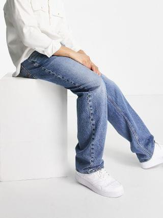 Nudie Jeans Tuff Tony straight fit jeans in indigo travel