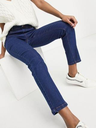 WOMEN Wednesday's Girl high waist skinny jeans in mid wash