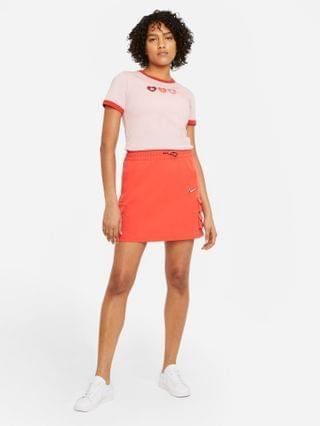WOMEN Nike Valentine short sleeve T-shirt in pink with contrast cuffs