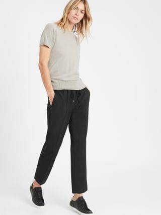 WOMEN Washable Wool-Blend Pull-On Pant