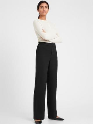 WOMEN High-Rise Wide-Leg Pant with Elastic Sides