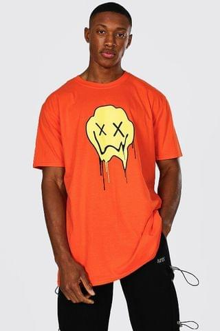 MEN Oversized Drip Face Graphic T-Shirt
