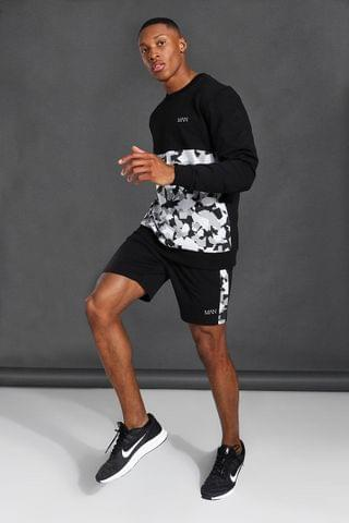 MEN Active Colourblock Sweater & Short Set