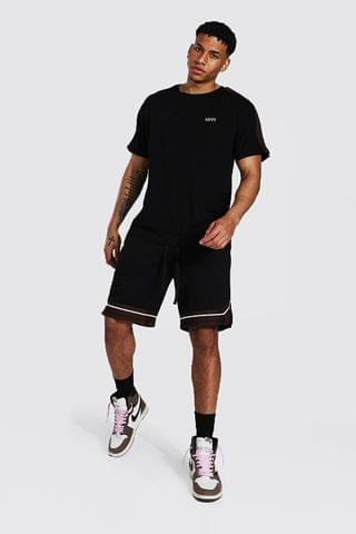 MEN Original Man Tape Tee & Basketball Short Set