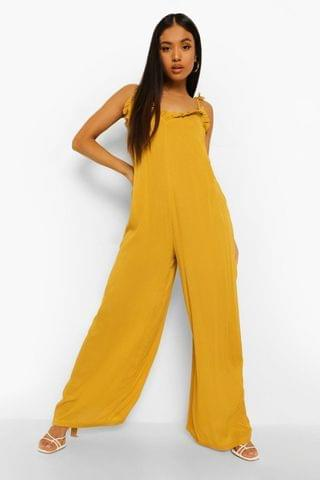 WOMEN Petite Wide Leg Cheesecloth Cami Jumpsuit