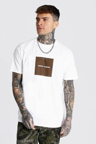 MEN Oversized New York Box Graphic T-Shirt