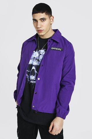 MEN Official Branded Woven Coach Jacket