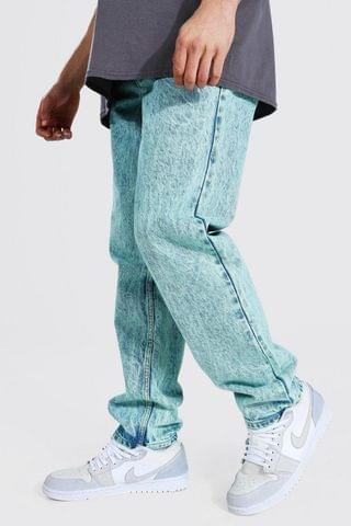 MEN Relaxed Fit Acid Wash Jean