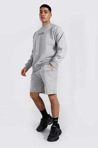 MEN Original Man Raglan Sweater Short Tracksuit