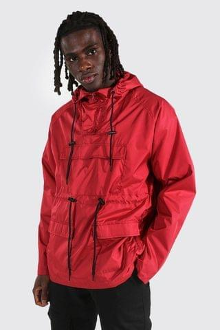MEN Lightweight Overhead Multi Pocket Parka