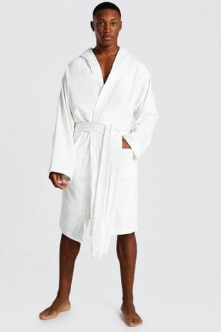 MEN Signature Jersey Hooded Dressing Gown
