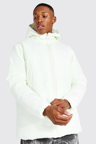 MEN Hooded Boxy Parka