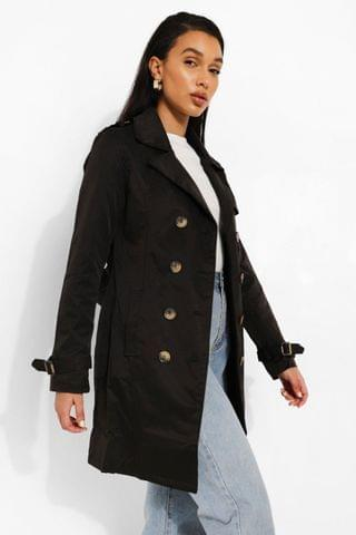 WOMEN Belted Trench Coat