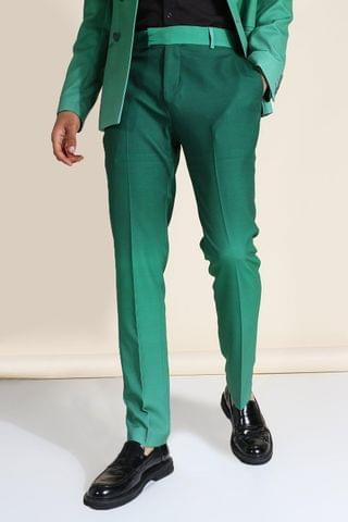 MEN Skinny Green Ombre Suit Trousers
