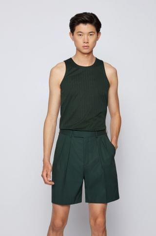 MEN Tank top in pure-cotton jersey