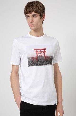 MEN Cotton-jersey slim-fit T-shirt with collection-themed graphic