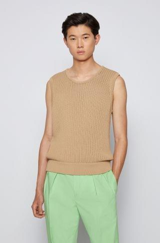 MEN Knitted tank top with chunky structure