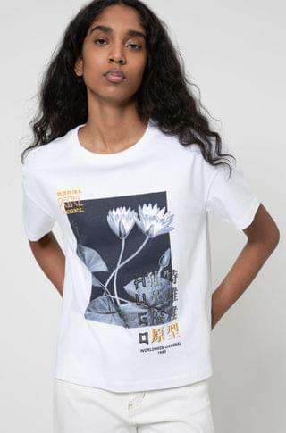 WOMEN Relaxed-fit jersey T-shirt with collection-themed artwork