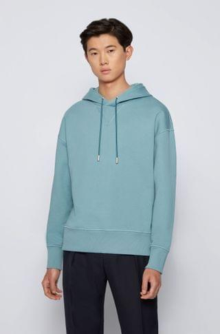 MEN Hooded sweatshirt in French terry cotton with liquid finishing