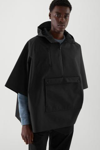 MEN HOODED PONCHO
