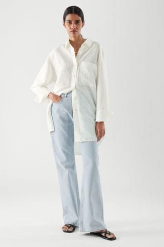 WOMEN OVERSIZED LINEN SHIRT
