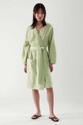 WOMEN SEERSUCKER BATH ROBE