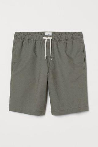 MEN Linen-blend Shorts