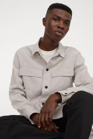 MEN Linen-blend Shirt