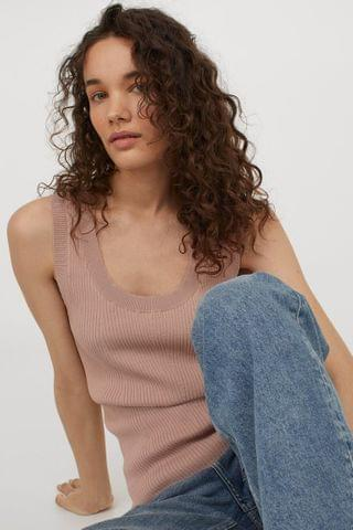 WOMEN Rib-knit Tank Top