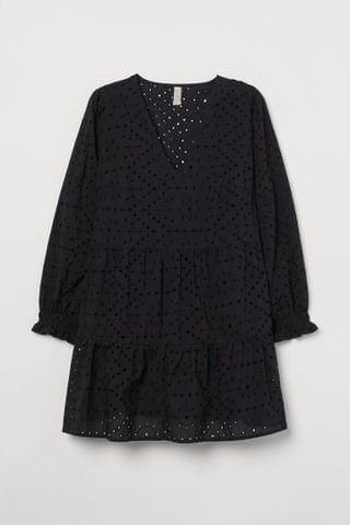 WOMEN H&M+ Eyelet Embroidery Dress