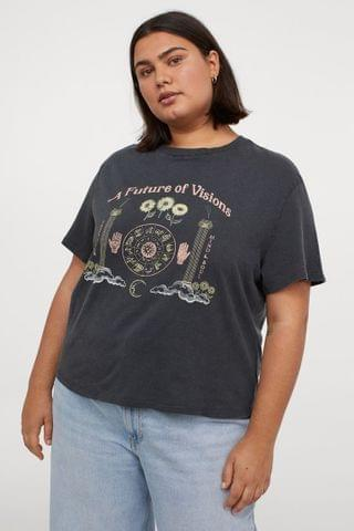 WOMEN H&M+ Printed T-shirt