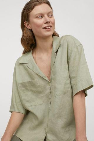WOMEN Linen Resort Shirt