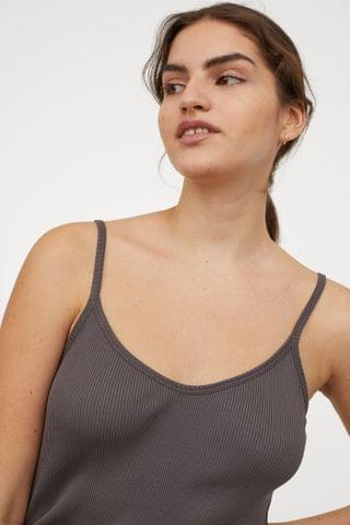 WOMEN Ribbed Silk-blend Tank Top