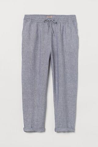 WOMEN H&M+ Pull-on Linen Pants